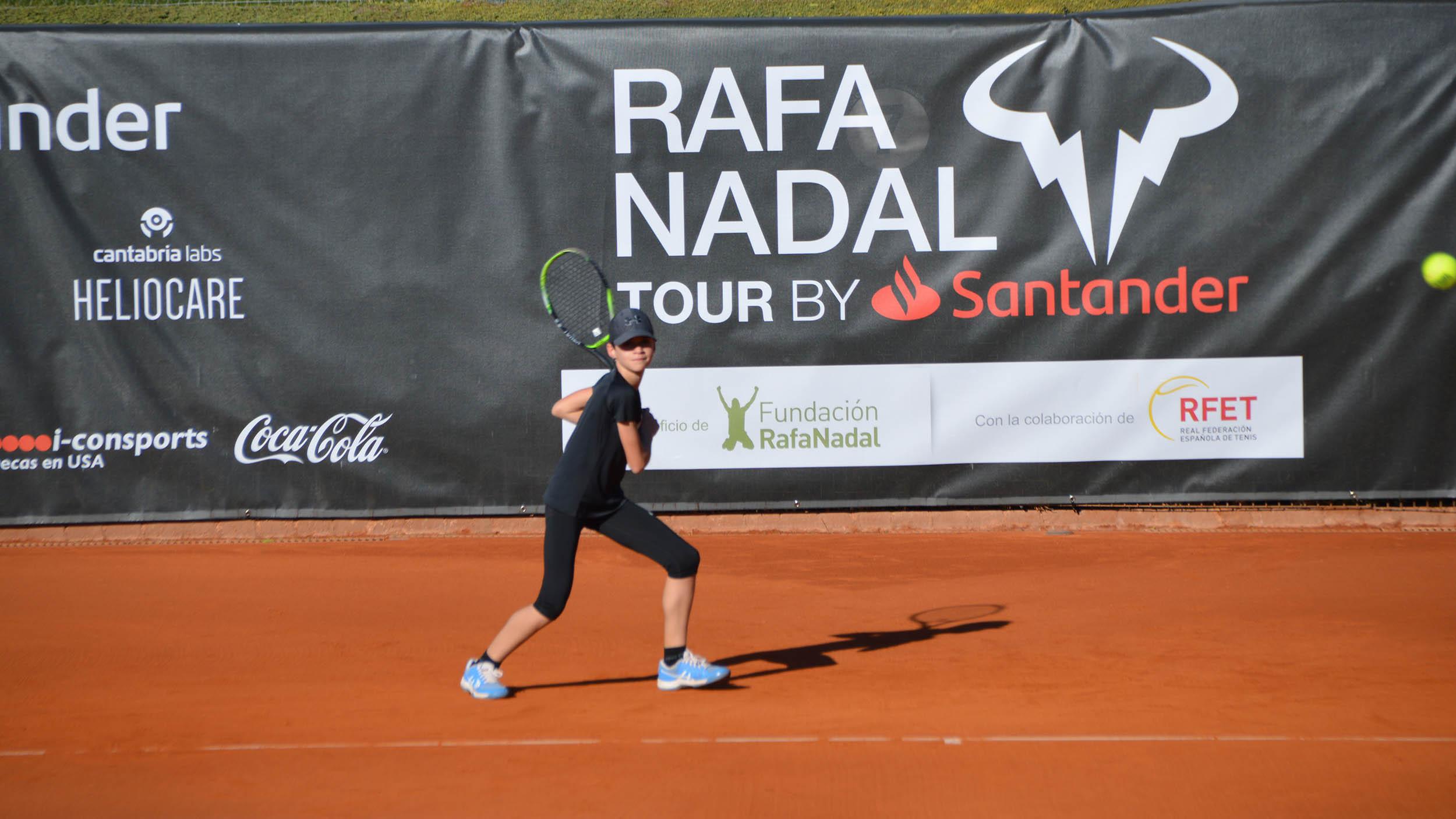 Imagen del primero torneo del Rafa Nadal Tour by Santander